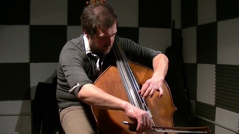J.S.Bach - Chaconne in D minor - Double Bass Guitar