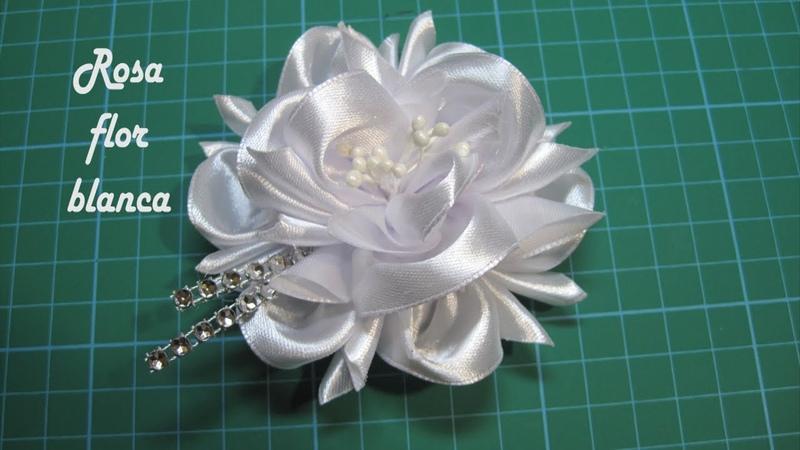 DIY Rosa flor blanca Pink white flower زهرة بيضاء وردي Розовый белый цветок