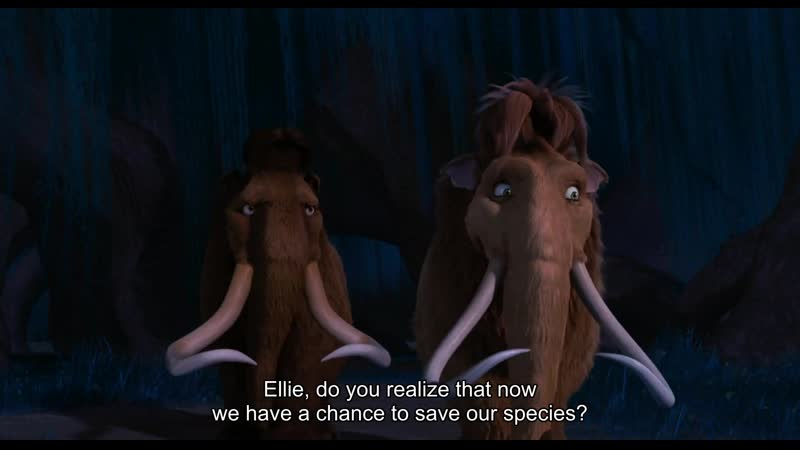 Ellie, do you realize that now we have a chance to save our species