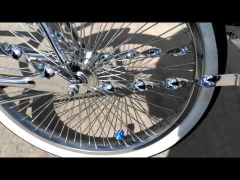Chrome and Black Lowrider Bikes