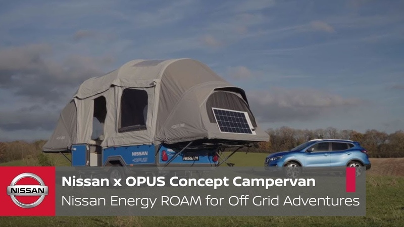 Nissan x OPUS Concept Campervan Nissan Energy ROAM for Off Grid Adventures