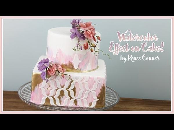 Boho Watercolor Cake Renee Conner
