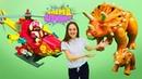 Видео для детей с игрушками Плеймобил. Динозавры, игрушечные животные