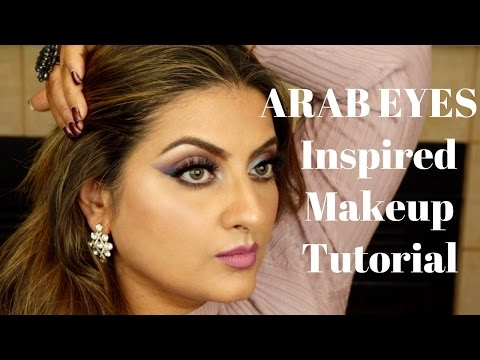 Arab Eyes Inspired Gradient Smokey Eye Makeup feat. Kat Von D MetalMatte Palette