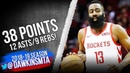 James Harden Full Highlights 2019.01.13 Rockets vs Magic - 38 Pts, 12 Asts, 9 Rebs! | FreeDawkins