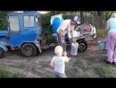 Наш любимый трактор молочник Молдавия деревня Грибова