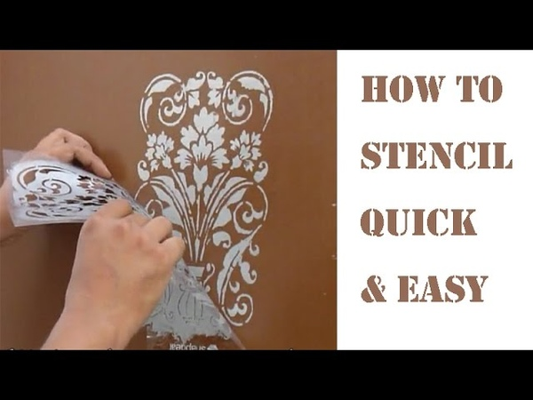 Cutart Tutorial : Cutting and Painting Damask Stencil for Metal doors with oil Paint