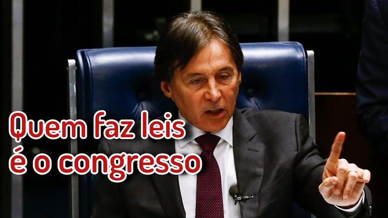 Quem faz leis é o Congresso, diz Senador Eunício Oliveira.