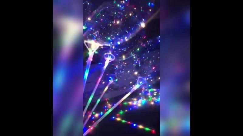 Воздушные светящиеся шарики