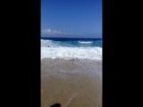 вот так с нами простилось море на пляже Клеопатры