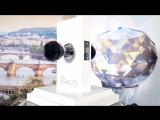 Дверная ручка Onyx Krystal Premium B6025 BL CP