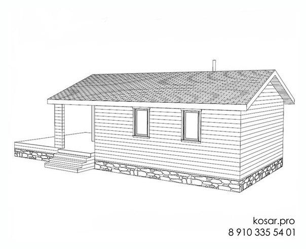 Одноэтажный дом 5009