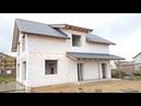 Все этапы строительства дома из газобетона.