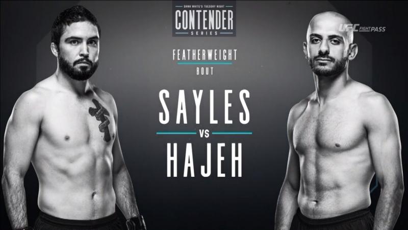 Dana White's Tuesday Night Contender Series S2E2: Matt Sayles vs Yazan Hajeh