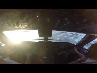 Take Off Warsaw EPWA Embraer 175 Pilot`s View GoPro