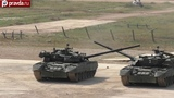 Russian tanks dance to show their manoeuvrability