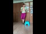 Мое восстановление после вторых родов. Домашняя тренировка с детским стулом.