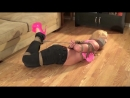 Blonde Tape Wrap Gagged and Roped Up