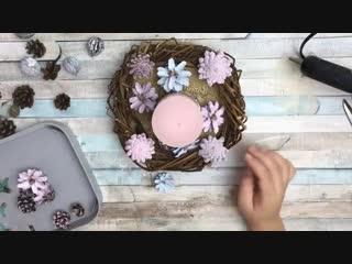 Новогодний подсвечник своими руками - Alina Shut DIY - DIY candlestick.mp4