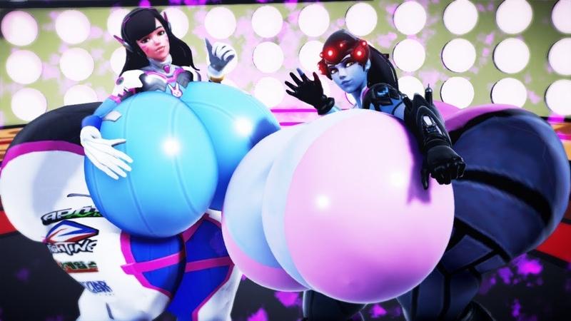 D.Va and Widowmaker breast butt expansion (Overwatch Oversize)