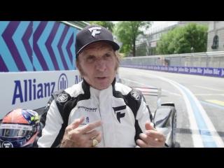 Emerson fittipaldi drives formula e car in zurich!