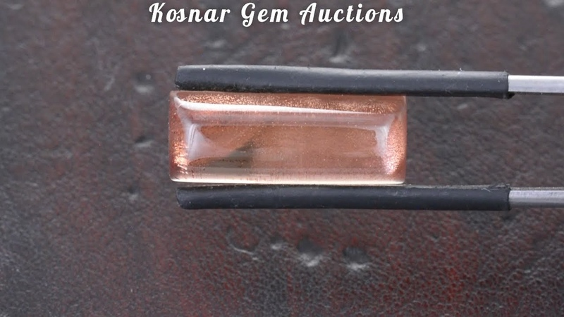 Mesmerizing Shiller Packed Sugar Loaf Oregon Sunstone Cabochon from KGC