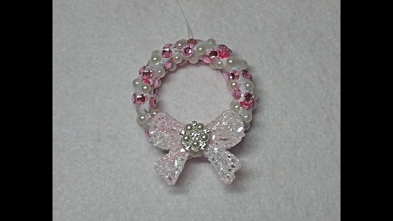 DIY~Sparkly Shabby Chic Wreath Ornament Made With D.T. Materials!