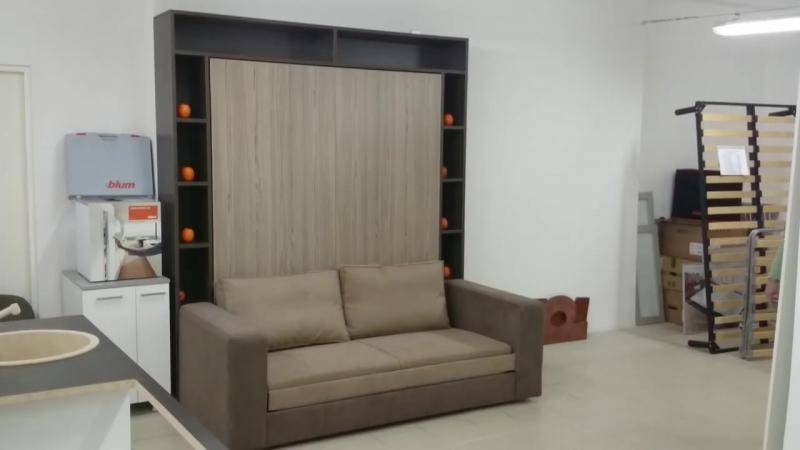 Элара Лонга Луксурия Шелф - 2-х спальная подъемная кровать с диваном