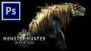 Great Jagras - Monster Hunter World   Photoshop Painting