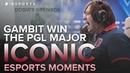 ICONIC Esports Moments: Dosia's Grenade   Gambit Win the PGL Major (CS:GO)