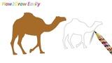 Camel Drawing &amp Coloring - Watch Video - httpsyoutu.beLUk6c-LRGQY