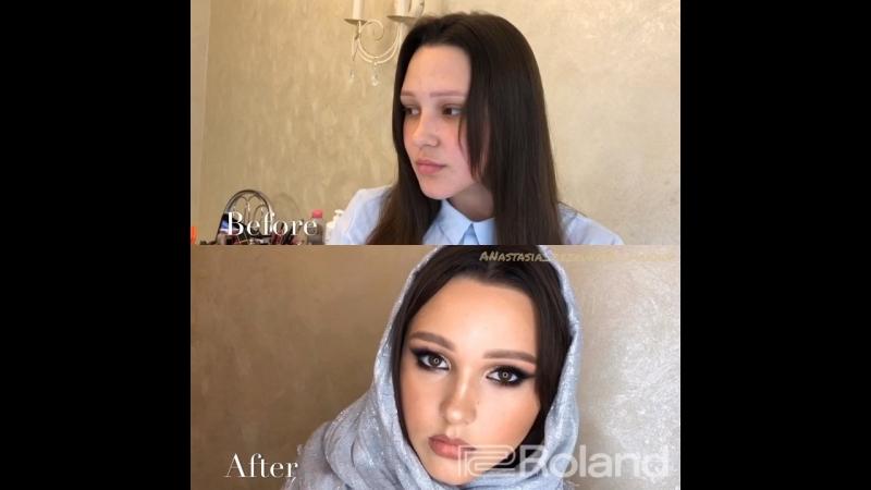 Восточный макияж растушеванная стрелка
