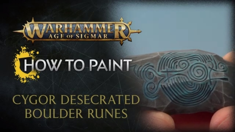 How to Paint: Cygor Desecrated Boulder Runes