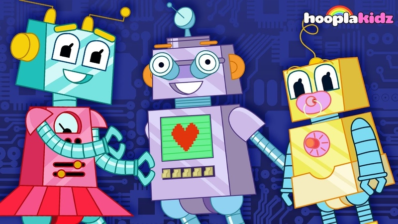 Robot Finger Family Nursery Rhymes Collection and Many More Robot Song for Kids by HooplaKidz