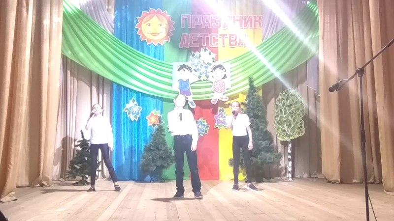 Мама Беларусь. Толмачев Женя, Чернявская Аня и Романовская Полина. 1 июня 2018