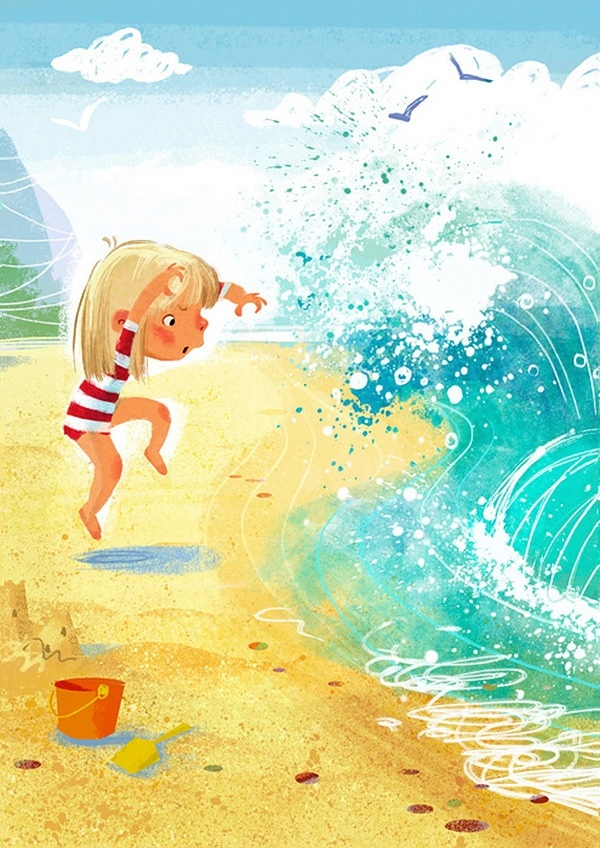 Картинки про лето и море детские