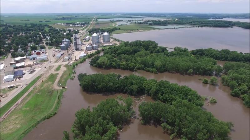 Big Sioux River Flood 2018 - Akron, Iowa