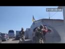 Задержание ополченца на Украинском блокпосту