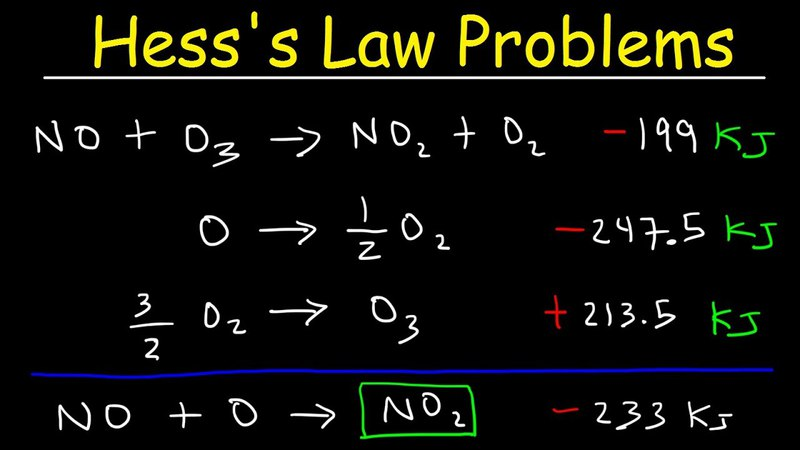 Hess's Law Problems Enthalpy Change - Chemistry