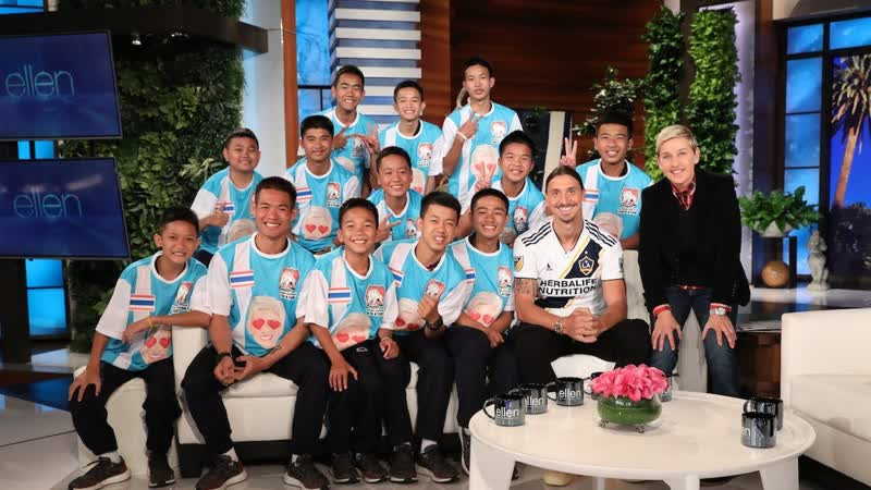 Ellen Talks to Thai Soccer Team in Their First In Studio Interview Since Cave Rescue