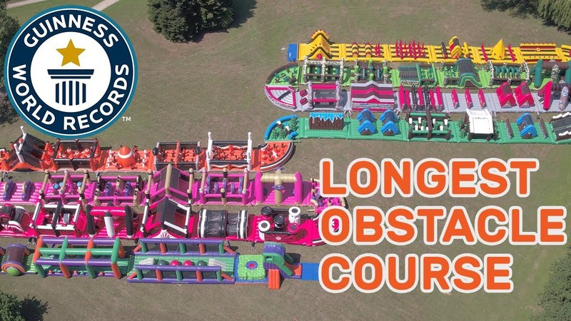 The Beast Longest inflatable obstacle course Guinness World Records