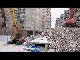 обрушение уцелевшей стены на К. Маркса