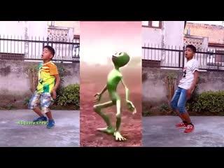Nepalese kids vs alien part 2  dame tu cosita dance challenge 2018  asquare crew