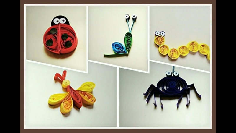 Five Easy Quilling Insects   Quilling Art   Spider   Ladybug   Snail   Dragonfly   Worm