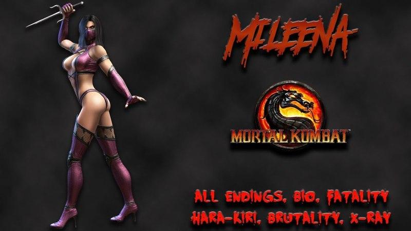 Mortal Kombat - All Fatality, Bio, Ending - Mileena