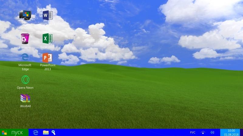 Microsoft Windows XP 2018 Remake (Concept)