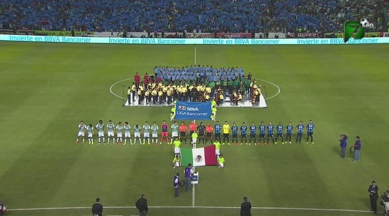 Mexico - Esperanza Azteca Querétaro interpreta el Himno Nacional Mexicano en la Final de la Liga Bancomer MX