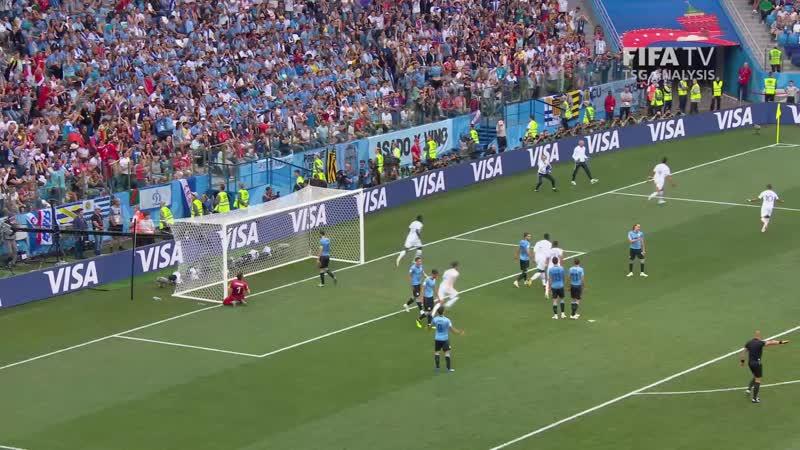 ЧМ-2018. 14 финала. Уругвай - Франция 02. Гол Рафаэля Варана