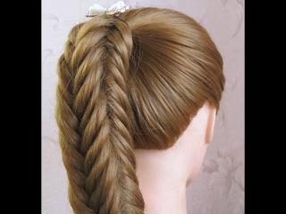 Схема плетения объемной косы