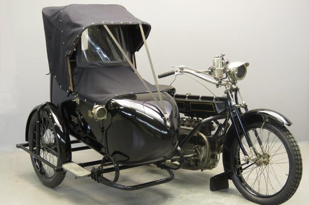 Ретро мотоцикл FN Type 700 с коляской